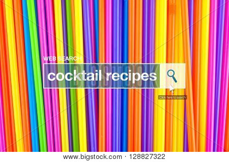 Cocktail recipes definition in internet glossary- web search bar glossary term