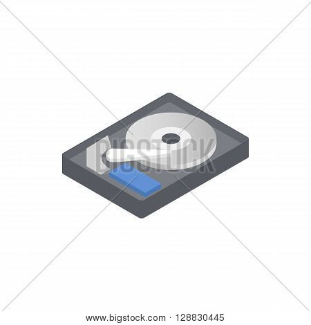 HDD icon in isometric 3d style on a white background