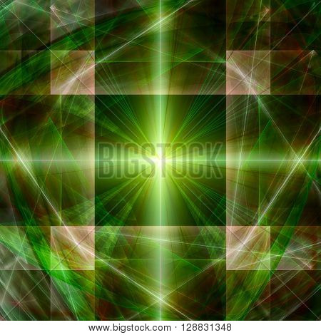 Colorful glowing pattern, abstract lines for background