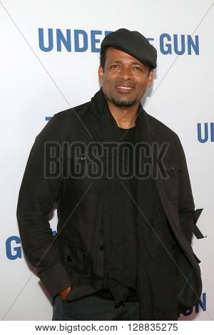 LOS ANGELES - MAY 3:  Mario Van Peebles at the Under the Gun Premiere at the Samuel Goldwyn Theater on May 3, 2016 in Beverly Hills, CA
