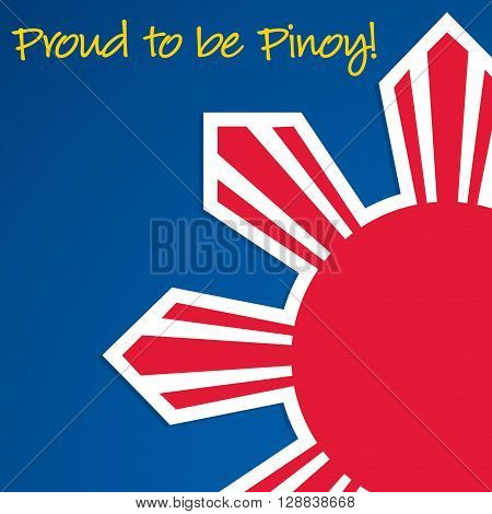 Cut Out Philippine Independence Day Card In Vector Format.