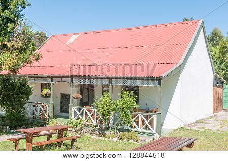 MILLWOOD SOUTH AFRICA - MARCH 4 2016: The historic Mother Hollys Tea Garden and museum in the Millwood section of the Garden Route National Park