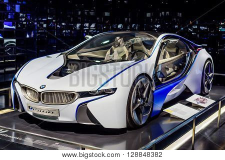 Munich Germany April 19 2016 - Futuristic BMW car