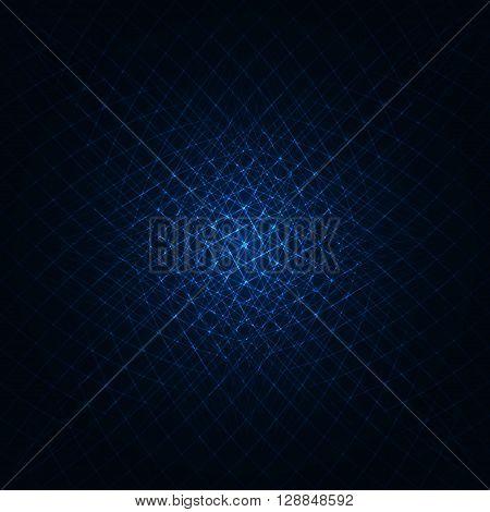 Abstract lights azure strips on dark background
