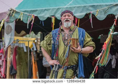 Man With Medieval Costume Singing