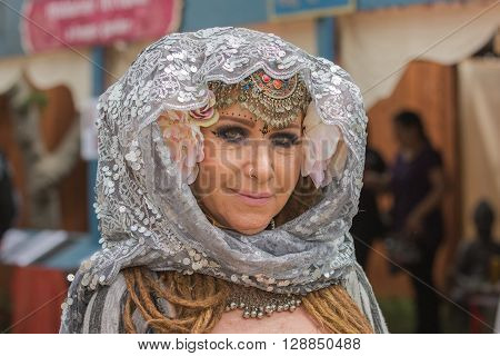 Woman With Medieval Costume