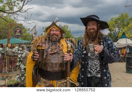 Men With Medieval Costumes