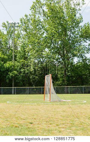 Lacrosse practice goal on a open practice field
