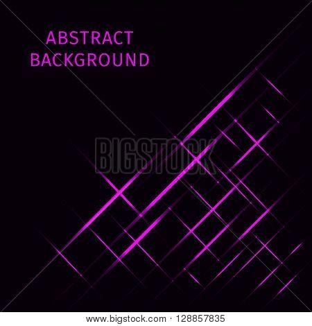 Abstract lights magenta strips on dark background