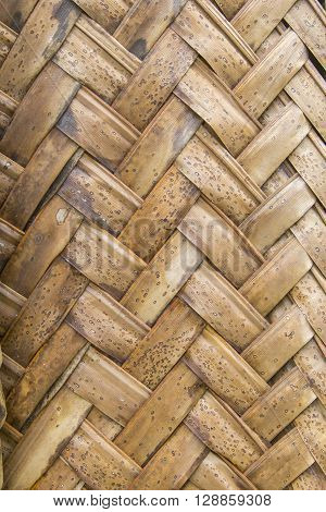 Texture Of Interweaving Brown Palm Leaves
