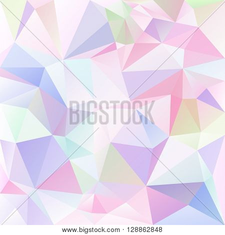vector abstract irregular polygon background with a triangular pattern in light pastel colored colors
