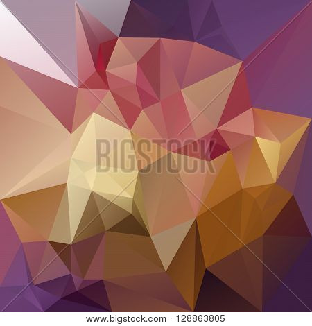 vector abstract irregular polygon background with a triangular pattern in purple pink and yellow colors