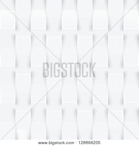 Abstract 3D White Geometric Background.