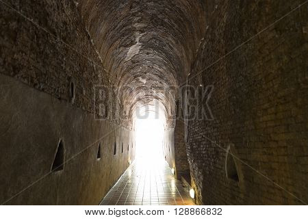 Light At The End Of Cave Tunnel