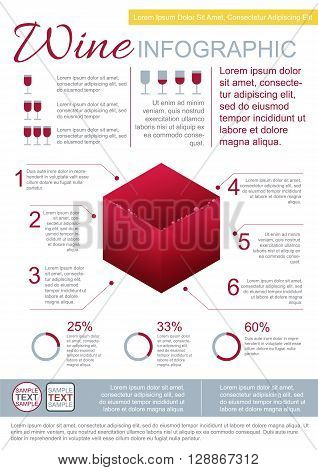 Vector Wine Infographic Template With Various Thematic Elements