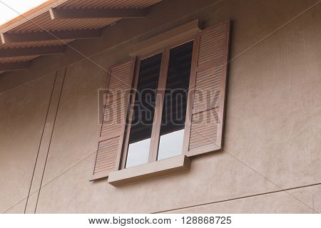 Wooden Window With Tinted Glass
