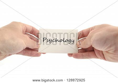 Psychology text concept isolated over white background