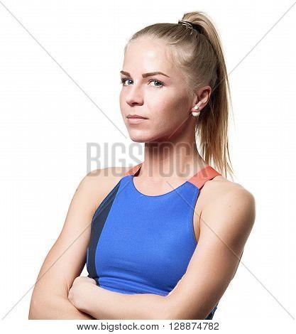 Suspecting Blue Eyed Blond Girl