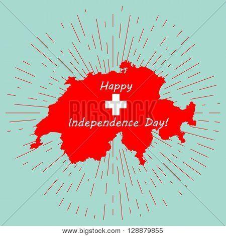 Vector Image - Map of Switzerland, Swiss Confederation