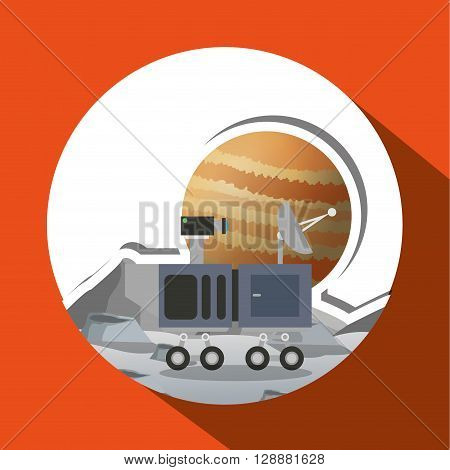 planet concept with icon design, vector illustration 10 eps graphic.