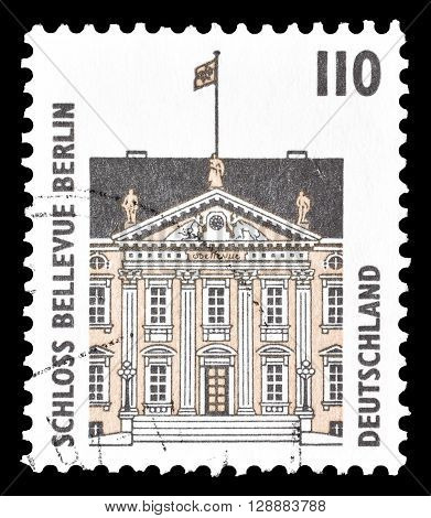 GERMANY - CIRCA 1997 : Cancelled postage stamp printed by Germany, that shows Bellevue Castle in Berlin.