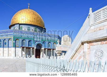 Israel Jerusalem the Top of the Rock mosque on the Temple Mount (Har Habait)