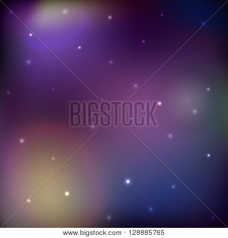 Space vector background, galaxy and stars wallpaper