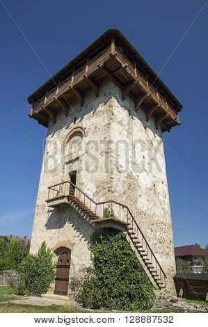 Orthodox monastery Humor from Bucovina Tower view. (Unesco Heritage)