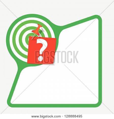 Abstract frame with paper and question mark