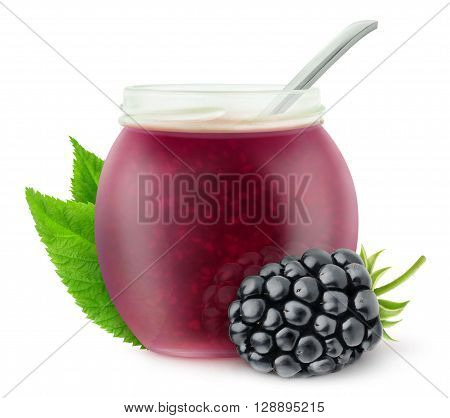 Isolated Blackberry Jam
