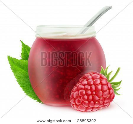 Isolated Raspberry Marmalade