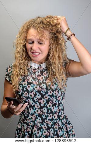 Beautiful Girl Screaming In The Phone