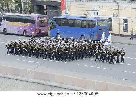 Cadets Of The Nakhimov School Marching