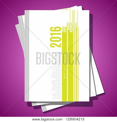 Minimalistic modern vector abstract brochure cover template. Report minimalistic design template. A4 size cover minimalistic design. Annual report cover design. Minimalistic look