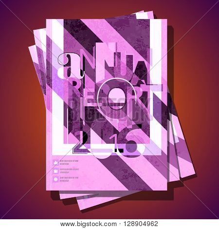Modern vector abstract brochure cover template. Report design template. A4 size cover design. Annual report cover design.
