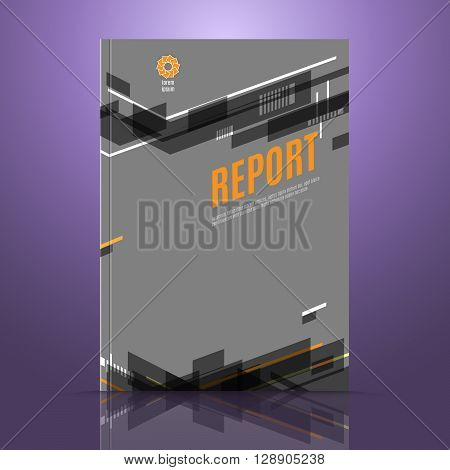 Modern vector abstract brochure cover template. Report design template. Annual report cover design. A4 size cover design