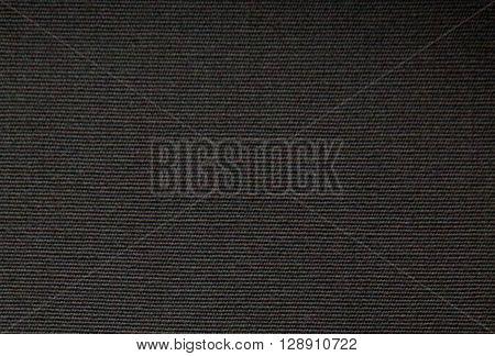 horizontal texture of coarse dark fabric background