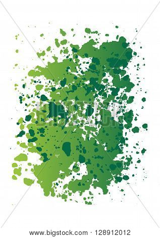 Colorful spots and splashes of paint. Abstract banner of the paint stains. A bright spot for the green background.