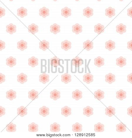 Floral pattern. Seamless vector illustration. Swatch inside.