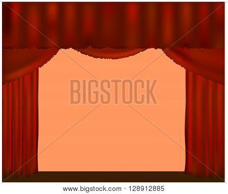 curtain theater scene. curtains. curtains. a curtain . podium.