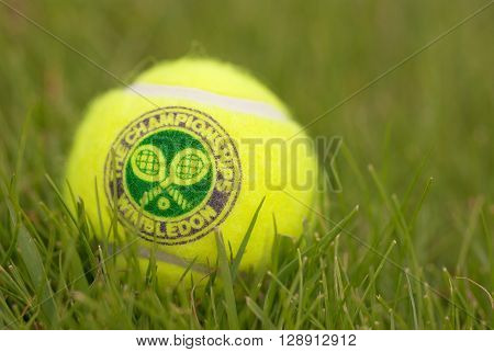 LONDON ENGLAND-JUNE 22 2009: Official Tennis ball for tradidional tournament at Wimbledon London UK