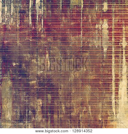 Grunge texture in ancient style, aged background with creative decor and different color patterns: yellow (beige); brown; gray; red (orange); purple (violet); pink