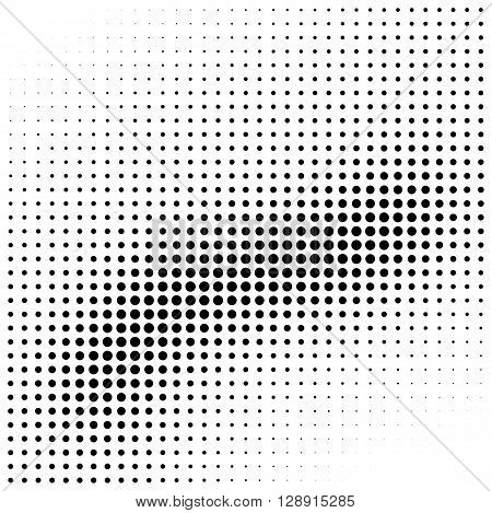 Abstract halftone wave gradient background element isolated on white background