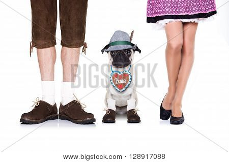 Bavarian Dog And Owner