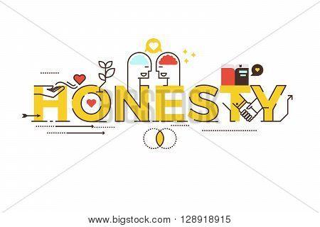Honesty Word Lettering