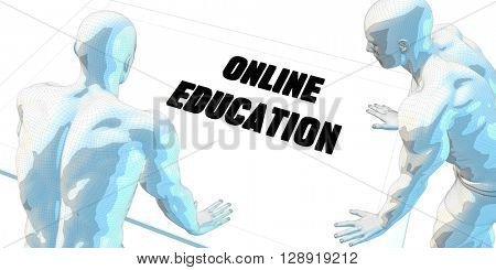 Online Education Discussion and Business Meeting Concept Art 3D Illustration Render