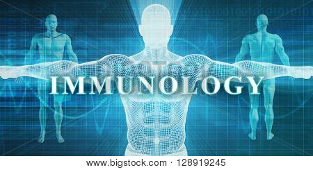 Immunology as a Medical Specialty Field or Department 3D Illustration Render