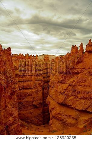 Dramatic clouds over Bryce Canyon  National Park in Utah
