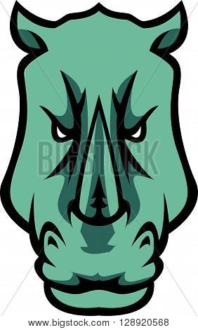 Rhino head illustration design .eps10 editable vector illustration design