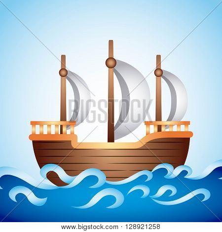 ship old  design, vector illustration eps10 graphic